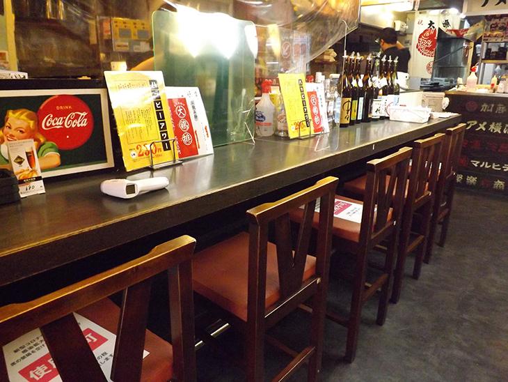 上野・アメ横の酒亭じゅらく:店内