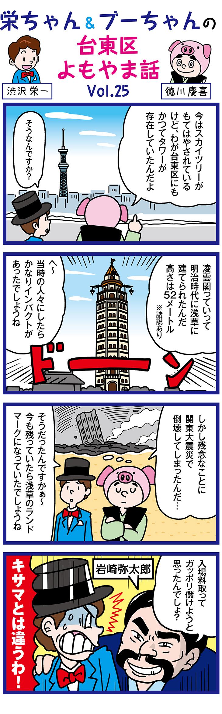 明治のランドマークタワー「凌雲閣」