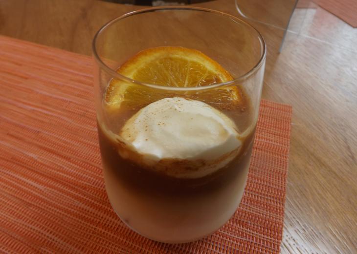 オレンジシナモンラテ